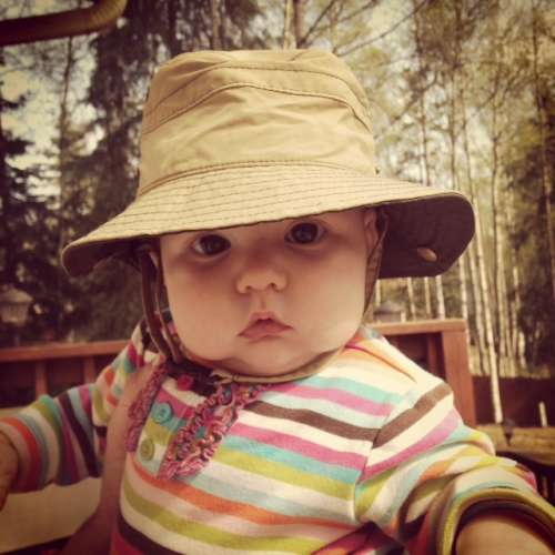 Obligatory cute Ava picture.  Gearing up for a sunny summer!