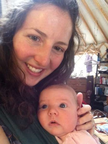 Baby wearing is essential in the yurt!