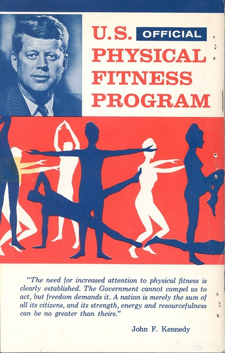 U.S. Physical Fitness Program Back Cover, courtesy of the JFK Library and Museum