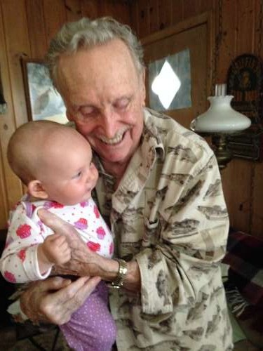 Strong man number one in my life--my 90 year old, sharp as a whistle grandpa!