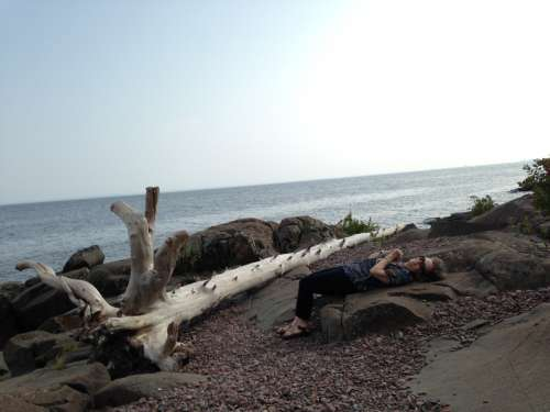 Visiting the North Shore in Minnesota.  Alaska shorelines kind of look this!