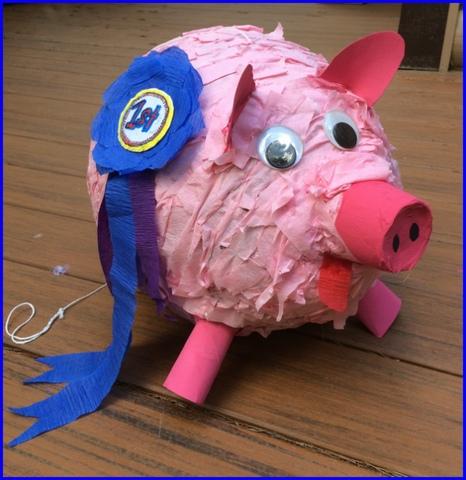 Andrea's prize-winning piggie.