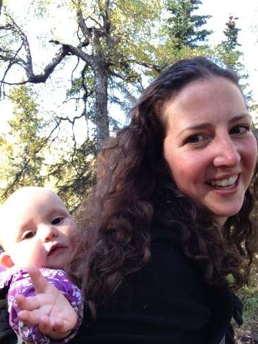 This is what feminism looks like: Walking with my baby in the woods