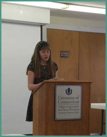 My daughter does her first public speaking...