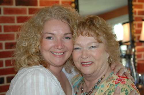 Mom and I on Mother's day a few years back.