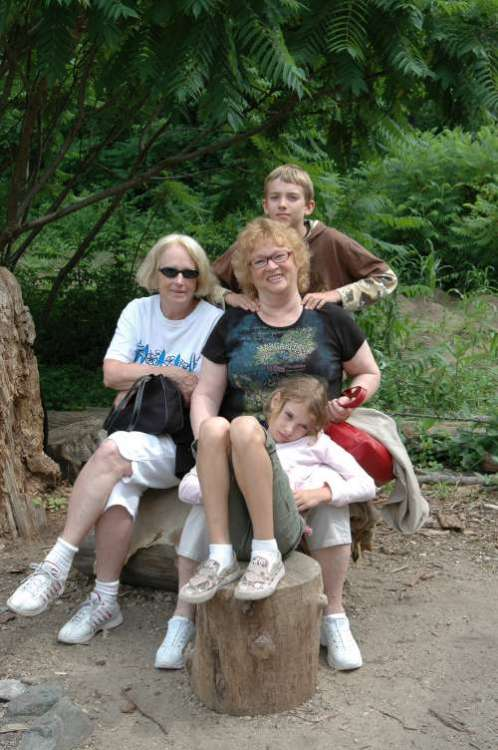 I love this one of my mom and my Aunt Laura with the kids at Plimoth Plantation.
