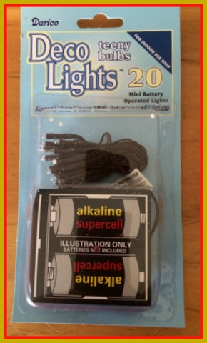 Keep in mind, when using these mini lights, your decorations should be kept inside.