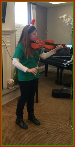 My daughter played a solo for the residents.