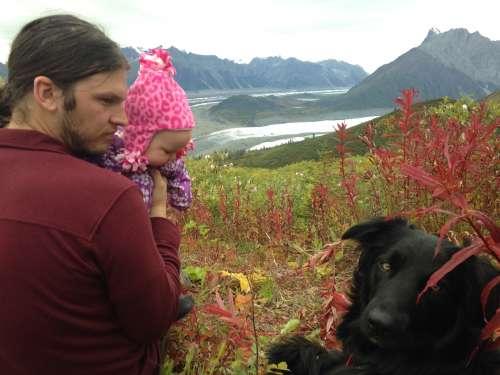 My favorite hiking companions--my family!  Hiking up the Jumbo Mine trail in McCarthy, Alaska.