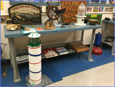 Maritime items are a nod to Mr. Ramsey's great grandfather and grandfather - both were Bath, Maine sea captains.