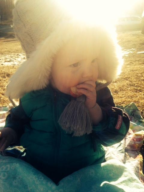 We had a picnic.  In February. In Alaska.  No big deal.