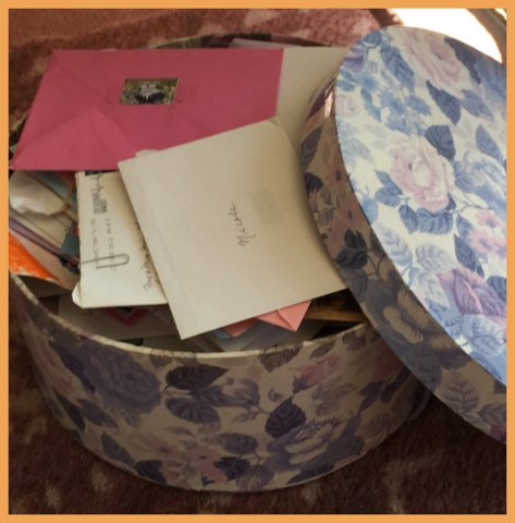 This hat box is filled with old letters, some from loved ones passed.