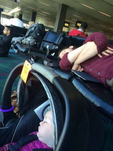 "We haven't gotten to the point where the airport is referred to as ""home.""  However, we feel comfortable enough to nap during long layovers."