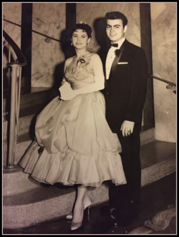 I love this photo of my parents at prom, The Houston Club, 1959
