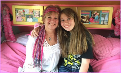 """My daughter and I really connected with Alison. She calls me a """"Fierce Warrior Goddess"""" and Audrey """"Future Warrior Goddess""""."""