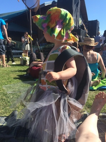"""Music Festival Ava.  She insisted on wearing the backpack and tutu!  Ava has a new saying: """"be you!"""" A true Farmgirl!"""