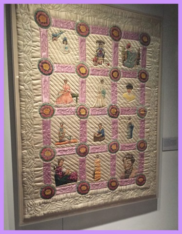 The Eleanor Roosevelt quilt sent to the First Lady from Calla Jeffries, Sulphur Springs, TX in 1940.