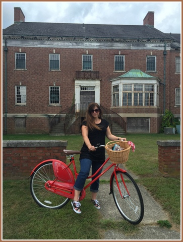 I love riding a vintage-style while seeing the antique buildings at Fairfield Hills.