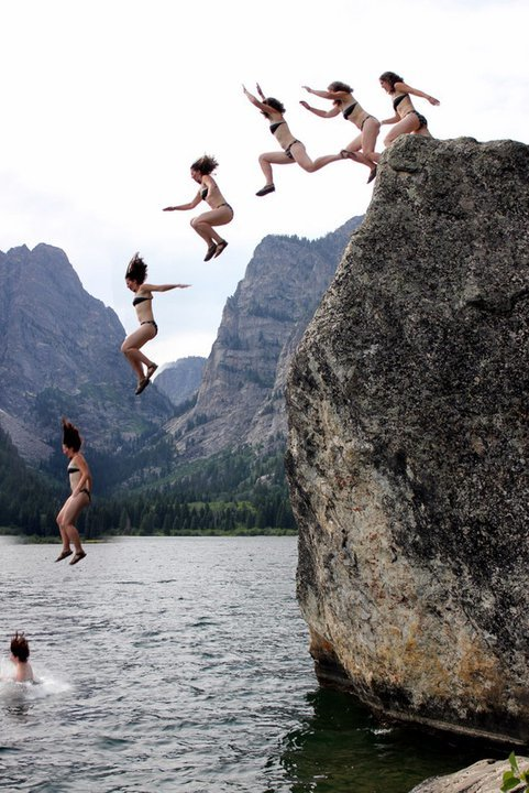 Me cliff jumping in Grand Teton National Park several years ago.  Evan made the cool picture!
