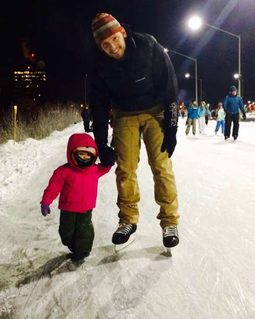 A Solstice Evening skate!  Ava loved it, even though she was wearing boots.