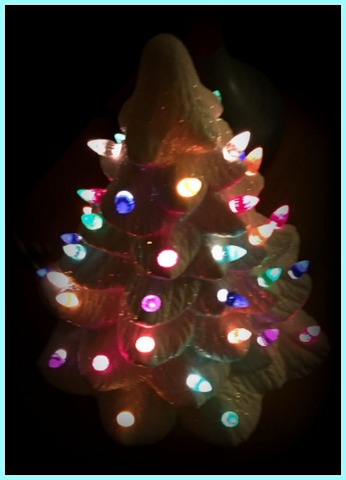 Ceramic trees like this look amazing lit up!