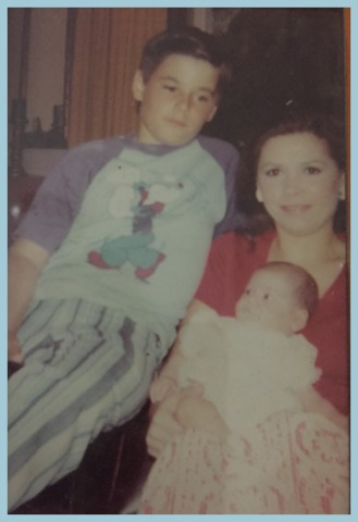 My mom, my brother, and me when I was a baby