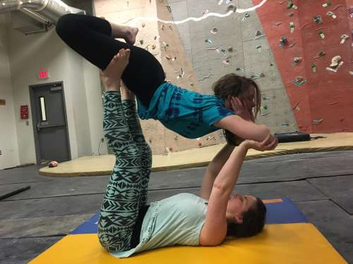 Some acroyoga with one of my favorite people!