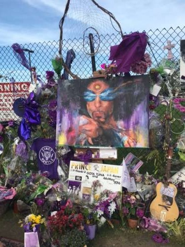 We visited Paisley Park to pay our respects for the late, great Prince.  Rest in Purple...