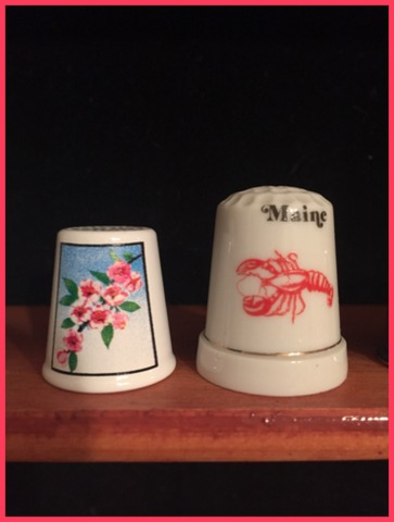 Two thimbles from trips with my daughter the past year now hold their own notes.