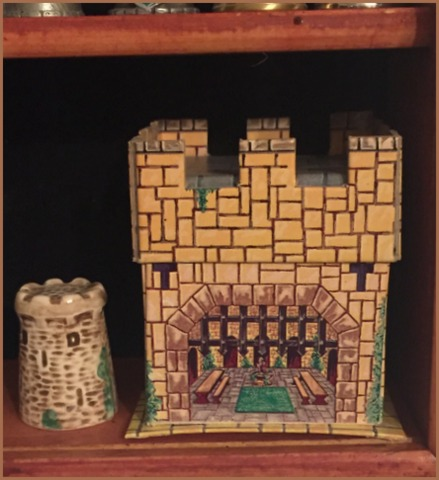 "This unique ""moat"" thimble has its own castle!"