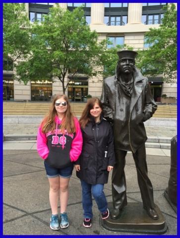 My dd and I at the Navy Memorial