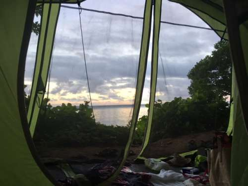 It might not be glamping (I was actually told that it was not allowed in Kauai county parks!), but camping was the highlight of our trip.