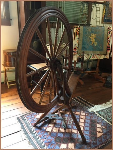 The very beautiful Michel Cadorette antique spinning wheel