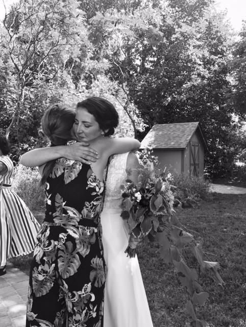 One of my favorite photos--hugging my dear friend Amanda.