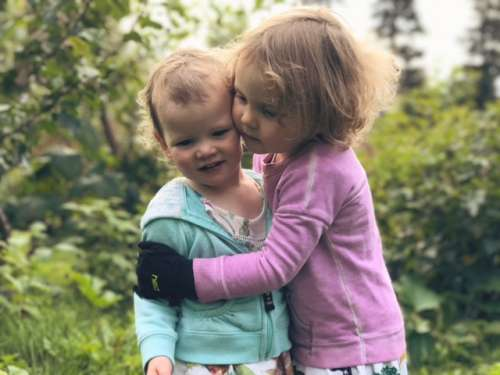 Apple orchard sister love.