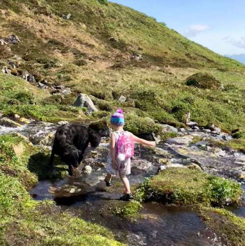Ava has been honing in on her running through rough terrain skills (Ninja skills, she says).