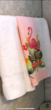 Vintage-inspired flamingo hand towel, Kohl's