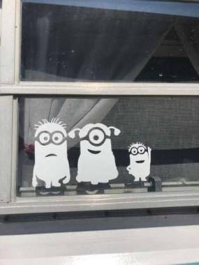 Minions outside..