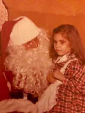 Pure fear, 1970-something. Love Santa's 70s orange plush chair!