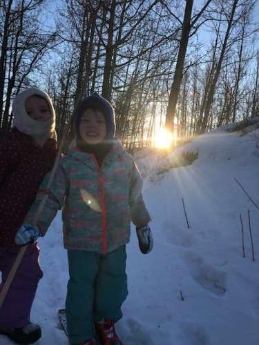 Sisters! Sun! Snow!