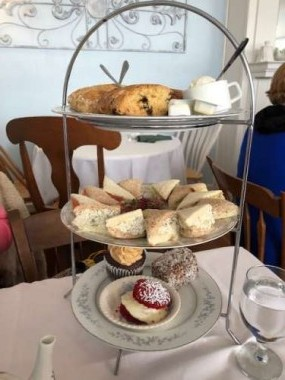 High tea! Special outings make long winters happy.