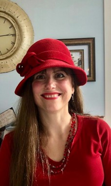 My favorite hat, circa 1940's. Red makes the dreariest day brighter!