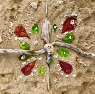 Nature mandala sand art, just fora a good reminder of impermanence.