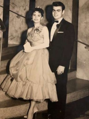 My parents at the Houston Club for prom, 1959