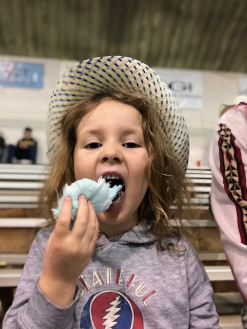 No, it isn't cotton candy. We went to the Winter Show Rodeo in North Dakota, though!