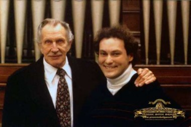 Cortlandt Hull with Vincent Price when he did the voice track for the museum in 1985 (Photo courtesy of and used with permission of Cortlandt Hull)