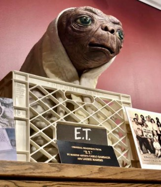 It is believed that this E.T. From the exterior bike riding sequence in the film is the only E.T. That still exists- as the articulated versions were made from a soft latex foam that has disintegrated over time.