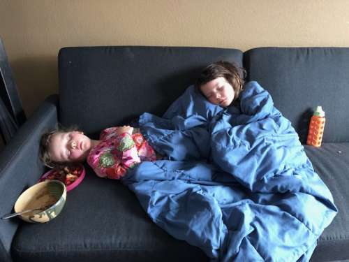 At least they are super cute when sick...