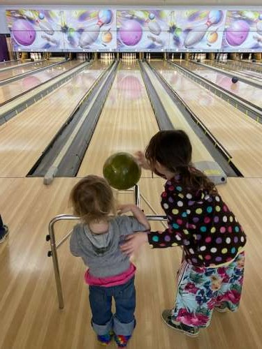 Opal recently turned four.  We went bowling for her birthday and it was a blast!