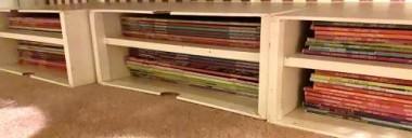 I organized my ten-year collection of MaryJanesFarm magazines, utilizing old desk organizers I was given.